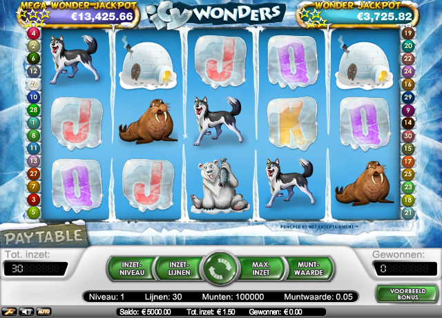 Review van Icy WOnders van Kroon Casino