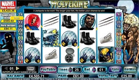 Wolverine Marvel gokkast