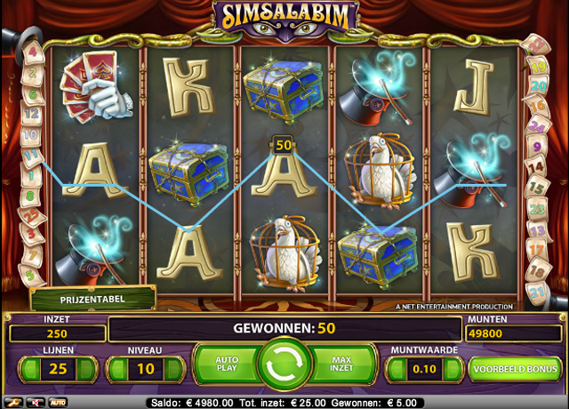 simsalabim gokkast screenshot