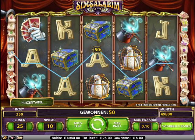 simsalabim gokkast screenshot